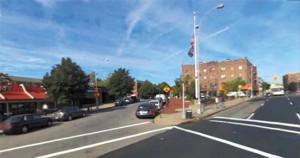 慰安婦追悼道建設が推進されている米国ニューヨークの街。左側のルーズベルト・アベニューと右側のノーザン・ブールバードが交わる156番街周辺500メートルを追悼道にする。/写真提供=NEWSIS