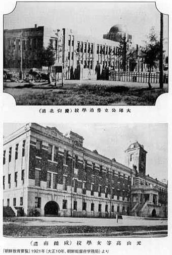 High school buildings in Korea