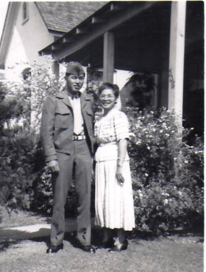 当時の和田氏とお母さま