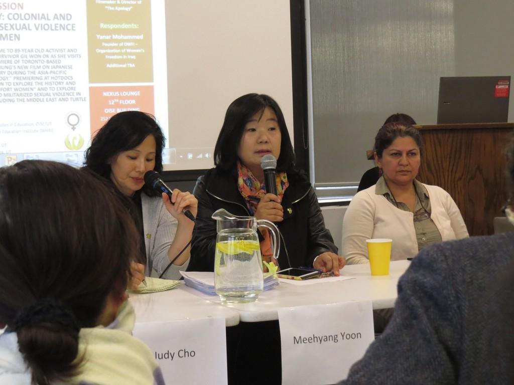 トロントでの慰安婦問題についての講演会 挺対協代表が登壇